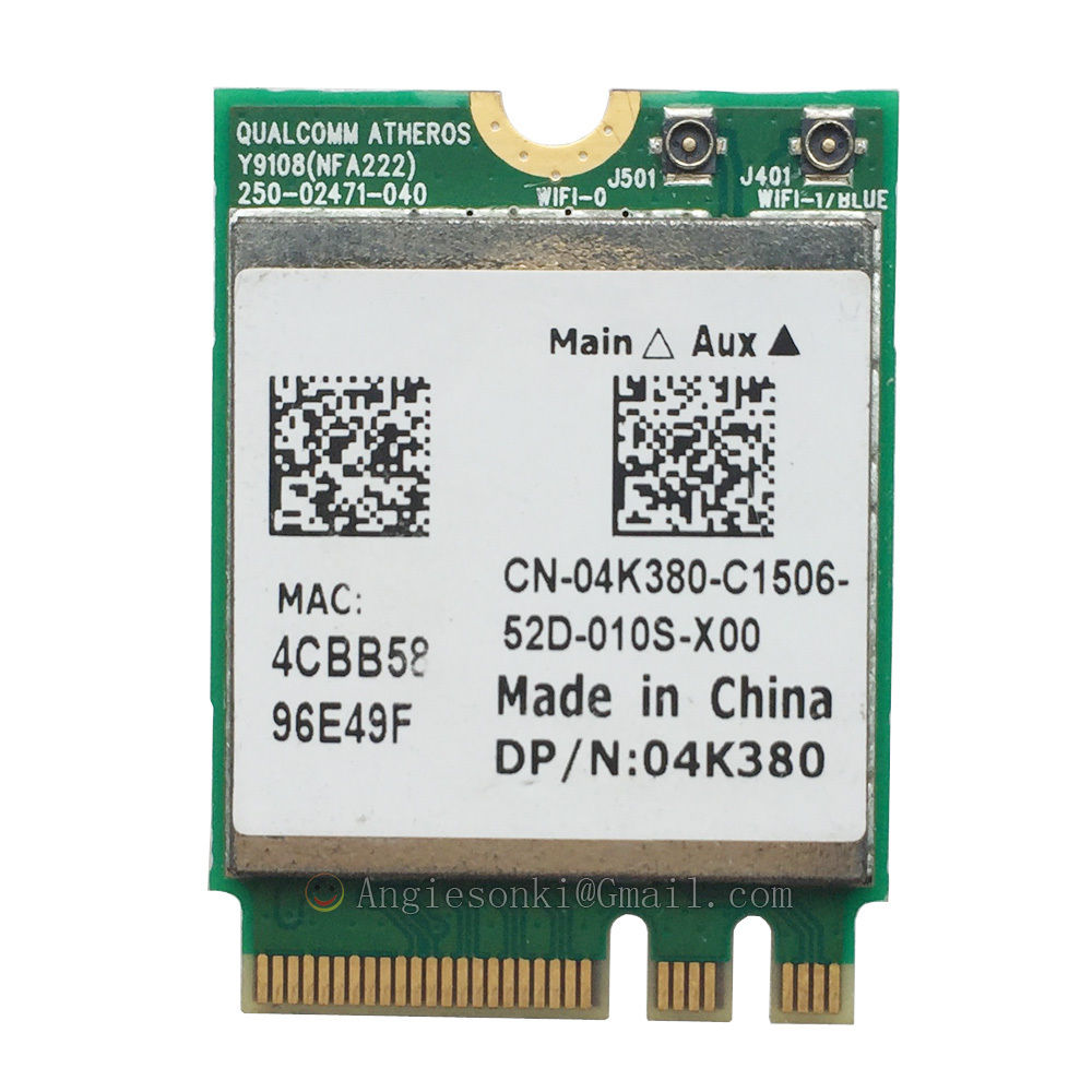 QCNFA222 AR5BWB222 802.11a/b/g/n 300Mbps 2.4/5GHz Bluetooth BT4.0 WIFI WLAN Card For Atheros Dell 4K380 NGFF Toshiba Acer Sony