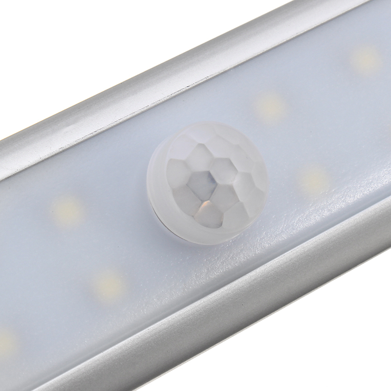 CLAITE Wireless 68 LED Bar Light PIR Motion Sensor Under Cabinet Light USB Rechargeable Night Light Magnetic Closet Wardrobe