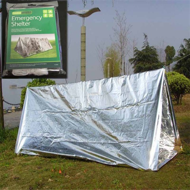 Outdoor Argent Ultraleve Shelter Emergency Camping SOS Tube Emergency First Aid Tent Shelter Gear Tents