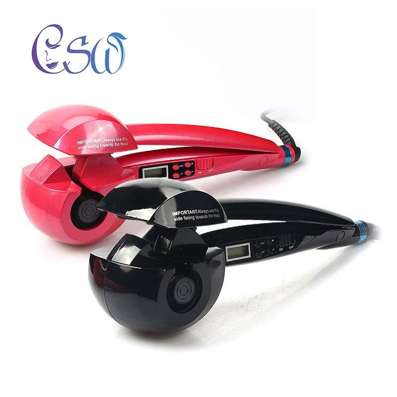 CSW LCD Écran Automatique Cheveux Bigoudi Chauffage Soins des Cheveux Styling Outils En Céramique Vague Cheveux Curl Magique Fer À Friser Cheveux Styler NOUVEAU