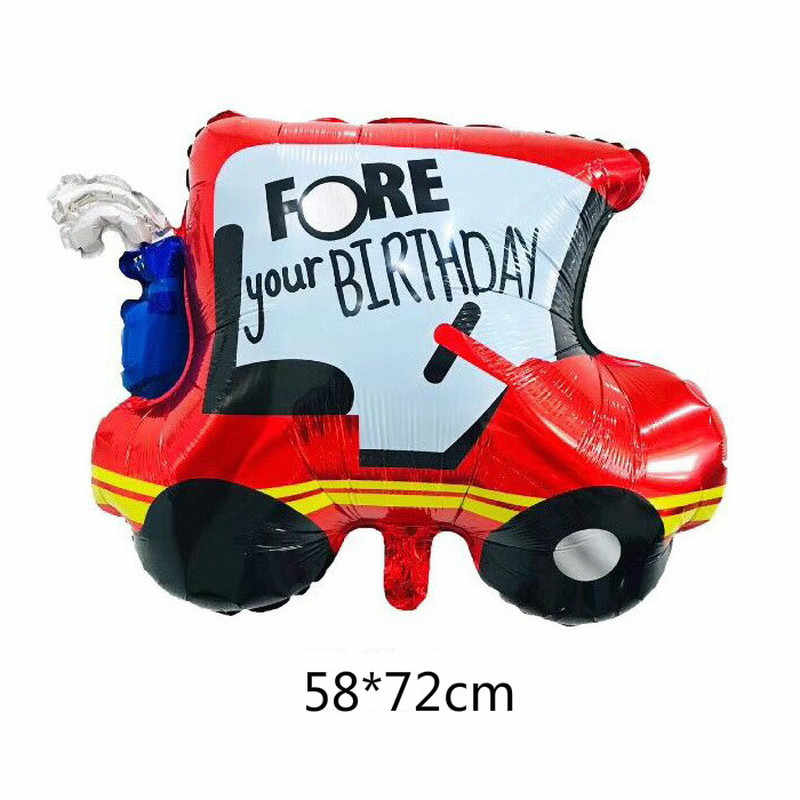Cartoon Car Foil Balloon Wedding Car Truck Train Balloons Children Gifts Happy Birthday Party Decorations Globos Balls Kids Toys