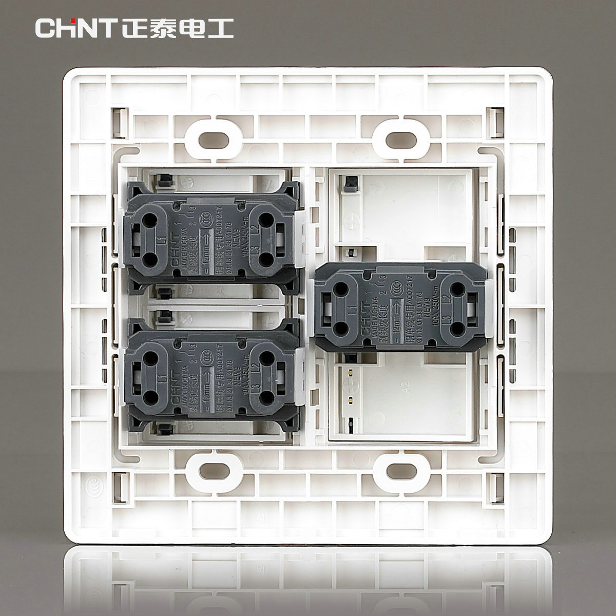 CHINT Wall Switch 120 Type /NEW9E Series Three Gang Two Way Switches ...