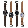 22mm pulseira de couro genuíno para a engrenagem s3 smart watch substituição faixa de relógio pulseira para engrenagem s3 clássico fronteira smart watch