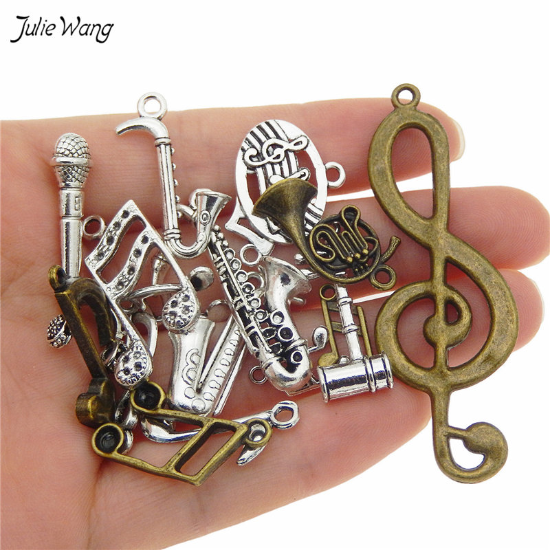 Mixed Music Instruments Notes Pendants Charms Music Jewelry 1