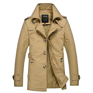 Free Shipping Size M-5XL New Mens Brand Cotton Thickhen Winter Snow Warm Coat,Hooded Faux Fur Parkas,4 Colors,1637 brand new m 5xl y169