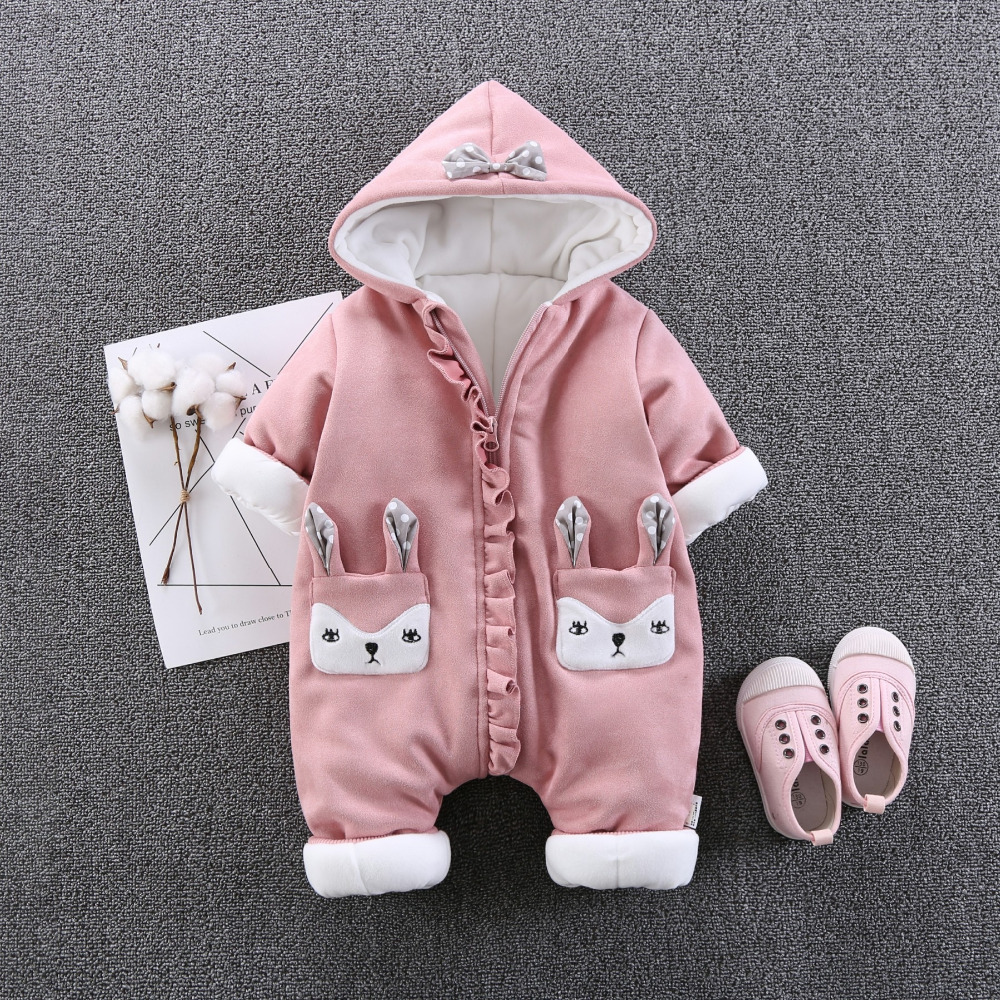 winter Baby Rompers Christmas Baby Boy Clothes Newborn Clothing Baby Girl Clothes thick warm Jumpsuits outerwear 3-12M стоимость