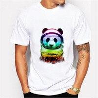 בסגנון סיני הדפסת פנדה חמודה חולצות T שרוול קצר חולצה לנשים בעלי חיים פנדה חתול טי עיצוב חולצות נשי חולצה LX97