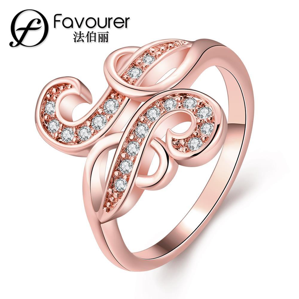 Wholesale New Rhinestone Finger Ring white/rose gold color rings for ...