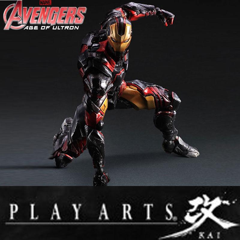 Play Arts Kai Square Enix Stark Hulkbuster Mavel Avenger Ironman Iron man Figma Movable Action Figure Doll Model Collection