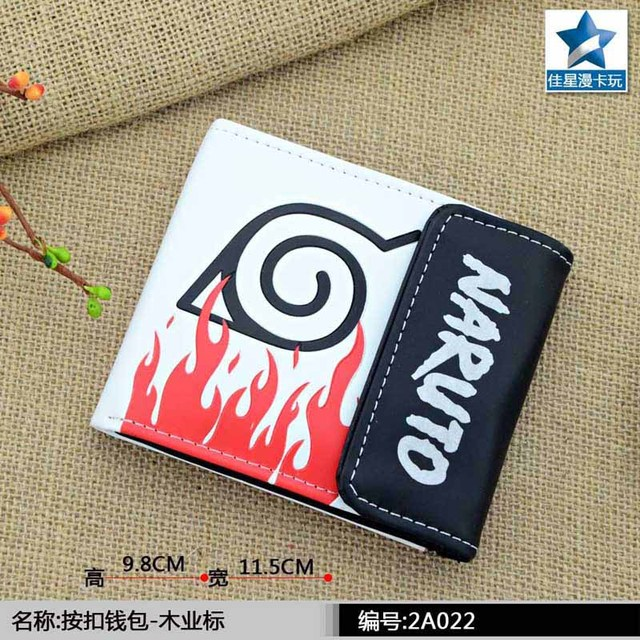The Hidden Leaf Village Symbol Multilayer Colorful Pu Short Wallet