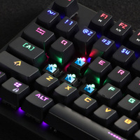 Mechanical Gaming Keyboard Waterproof Metal Backlit Wired 12 Modes Lighting USB SD998