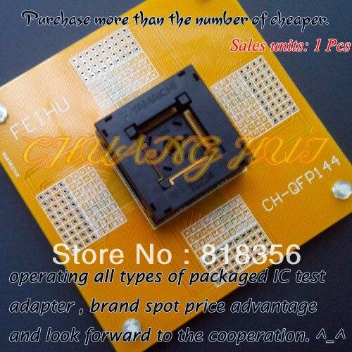 CH-QFP144 Test Socket QFP144 TQFP144 IC SOCKET Pitch:0.4mm IC234-1444-053