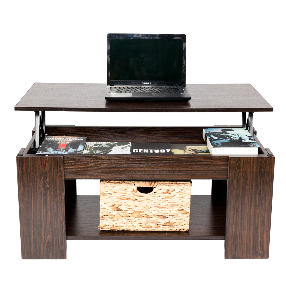 Lift Top Coffee Table Hidden Storage Compartment Dropshipping