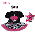 Cake Baby Girls Dress Summer 100%Cotton Black/Purple/ Red Newborn TuTu Dresses + Shoes + Headwear Baby Girl Rompers High Quality