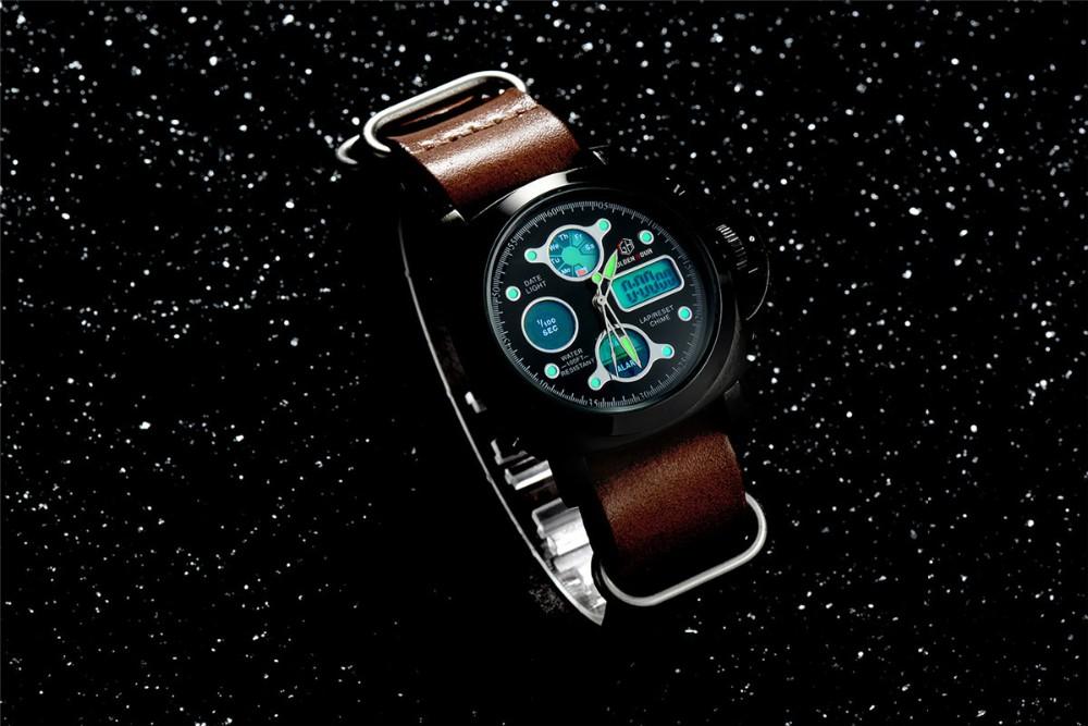 ผู้ชายแฟชั่นW Ristwatcheหรูหราร้อนแบรนด์ฉลามนาฬิกาสไตล์ผู้ชายสายหนังนาฬิกากีฬานาฬิกาที่มีคุณภ... 13