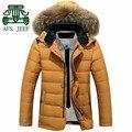 Afs JEEP marca Original Los hombres de pluma de abrigo de invierno, De alta qualidade gola de pele para baixo e Parkas longo espessura Jacket