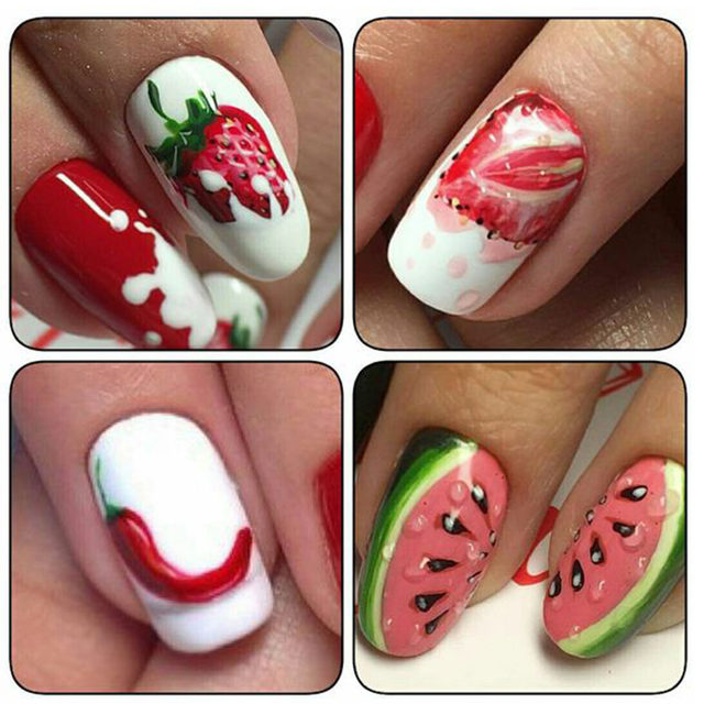 Online Shop 1 Sheet Nail Water Decals Transfer Stickers Fruit ...
