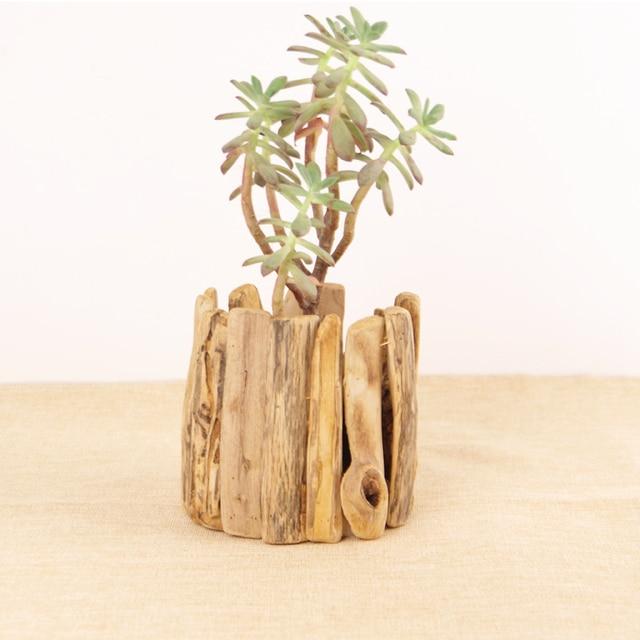 abbastanza Complementi arredo casa vaso di legno vasi per fiori regali stile  XN77