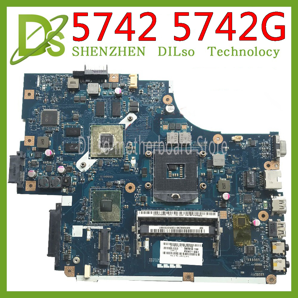 KEFU <font><b>LA</b></font>-<font><b>5891P</b></font> <font><b>LA</b></font>-5893P <font><b>LA</b></font>-5894P motherboard for Acer Aspire 5742G 5740 5741 motherboard with video card Test work 100% original image