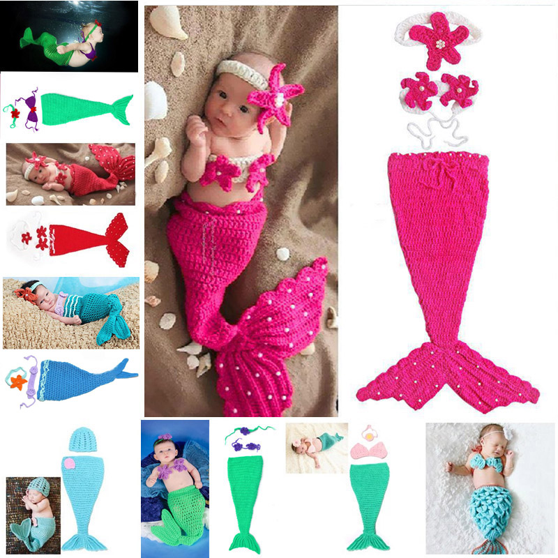 Aliexpress Buy Baby Crochet Mermaid Animal Costume Set Newborn