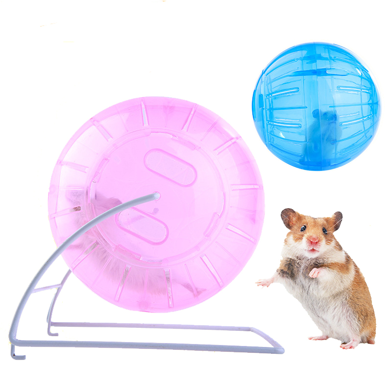 Running Ball 4 Colours Plastic Breathable Pets Training Easy Clean With Bracket Small Pets Product Pets Toy Hamster Toy