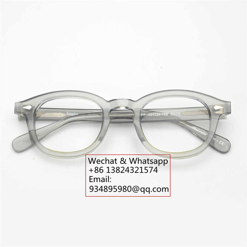 ea77aaaf6b ... EyeGlow Johnny Depp lemtosh same style acetate optical eyeglasses  frames men and women retro myopia prescription ...