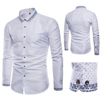 Designer Recommended New Men's Shirt Spring And Autumn Men's Ethnic Style Printed Shirt Trendy Casual Long Sleeved Shirt Men's c