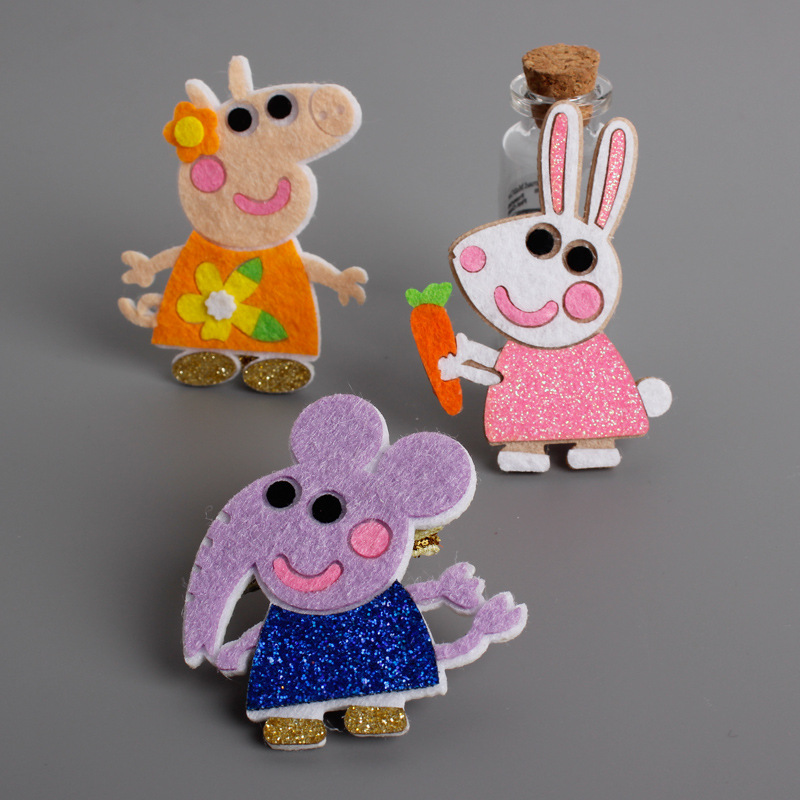 1 PCS Cute Cartoon Elephant Pig Rabbit Baby Hairpins kids Hair Clips Princess Barrette Children Headwear Girls Hair Accessories 2 pcs 2017 new korean striped bowknot cute baby clip girls hairpins cartoon kitten hair clips kids children accessories