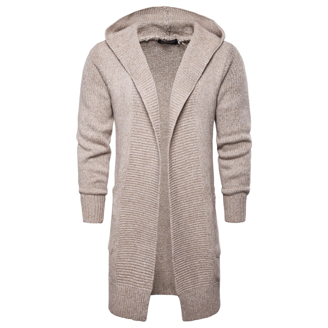 Men Autumn Hooded Sweatercoat New Fashion Men Cardigan Casual Sweaters Winter Warm Outwear Long Sweatercoats Szie 2XL