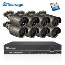 Techage 8CH 1080P HDMI POE NVR CCTV System 2MP Outdoor IP66 IP Camera P2P Onvif Security Surveillance Kit Motion Detect APP View