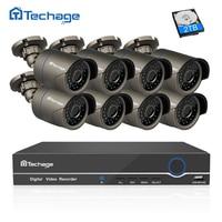 Techage 8CH 1080 P HDMI POE NVR CCTV System 2MP Outdoor IP66 Ip-kamera P2P Onvif Sicherheit Überwachung Kit Bewegungserkennung APP Ansicht