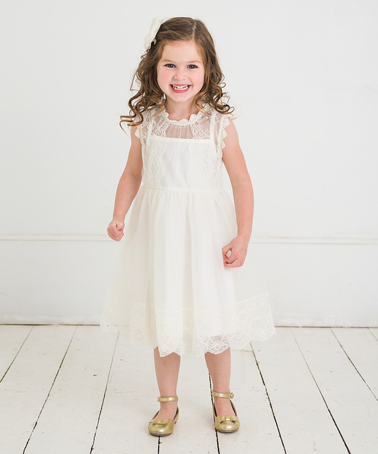 Baby Girl Floral Lace Princess Tutu Dress Wedding Christening Gown Dress Girls Clothes For Kids Party Wear Meninas Vestidos 2 6Y 3