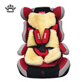 AUTOCROWN Baby fur Car Seat covers Natural sheepskin Very soft and warm Safety Child Seat cover immediately  warmth and comfort