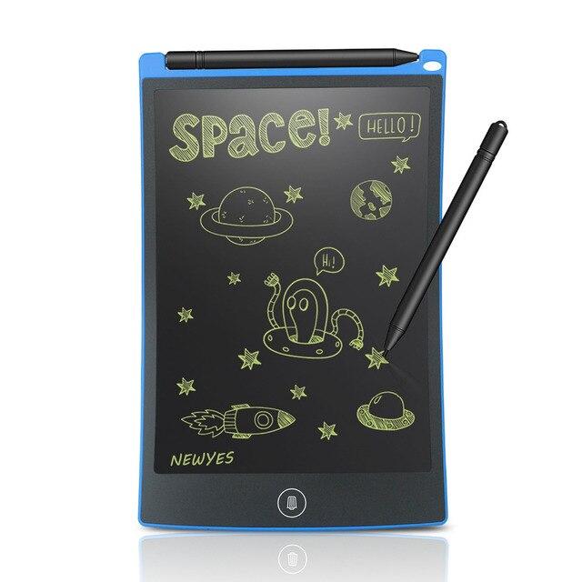 NEWYES Tableta portátil de escritura LCD de 8,5 pulgadas, tableta de dibujo Digital, almohadillas de escritura a mano, tableta tipo pizarra electrónica, tablero ultrafino