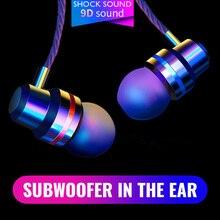 9D Deep Bass In-ear Headphone 3.5mm Wired Sport Earphone for Samsung Xiaomi Huawei