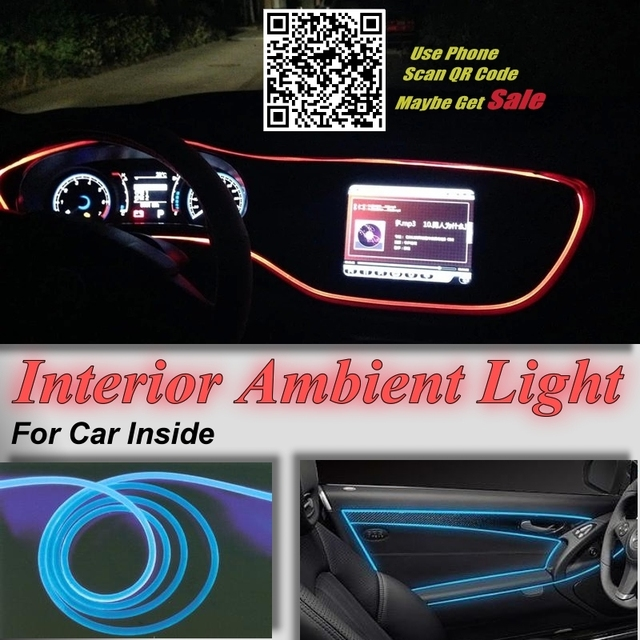 For CHRYSLER Pacifica 200 Car Interior Ambient Light Panel illumination For Car Inside Tuning Cool Strip Light Optic Fiber Band 4