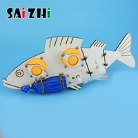 Saizhi Bionic Mechanical Fish Science and Technology Handmade Part DIY Robot Electric Fish Children Manual Material Assembly Kit