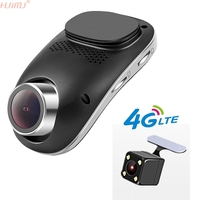 Mini WIFI DVR Rejestrator Noktowizor Dashcam Android GPS 4G Zdalnego Monitorowania ADAS z Dwoma Obiektywami Camara Nie Ekran