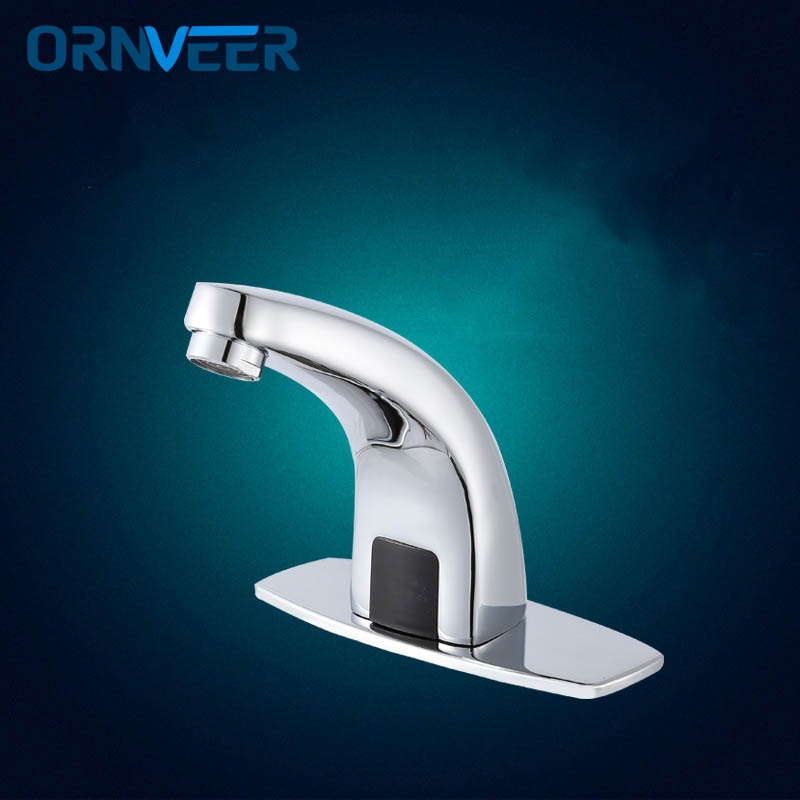 Free Shipping/Automatic inflared Sensor Faucet for Kitchen bathroom Basin Sink water saving Inductive electric Water Tap xueqin automatic inflared sensor faucet cold hot water bathroom sink copper water saving inductive tap deck mount with hose