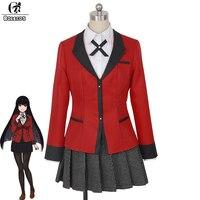 ROLECOS New Japanese Anime Kakegurui Cosplay Costume Compulsive Gambler Jabami Yumeko Cosplay Costume High School Uniform