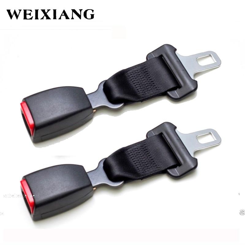 E24 2 x Black Car Seat Belt Extender Safety Belt Extension For Cars Seatbelts Longer For Children's Seats (Type B) 3r 104 abs car safety belt stoppers adjusters black silver 2 pcs
