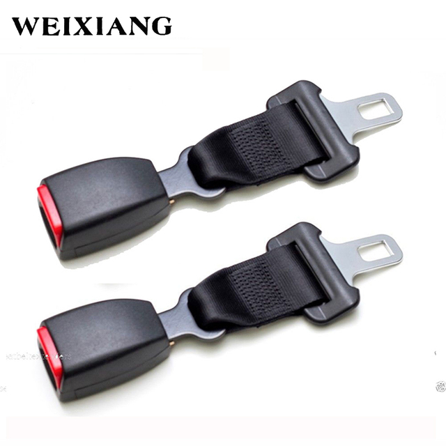 E24 2 X Black Car Seat Belt Extender Safety Extension For Cars Seatbelts Longer