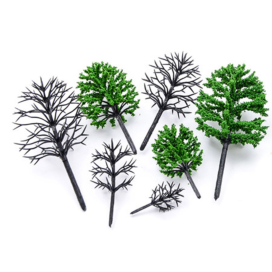 30pcs HO 1/87 Scale Architectural Model Tree Arm Toys Miniature Plants For Diorama Tiny Trees Making Material Layout Kits