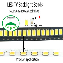 100pcs/lot new led 5630sa 3v 150ma lamp beads cool white for repair led lcd tv backlight light bar chip hot 2pcs lot mst6m181vs lf z1 tv led lcd driver chip