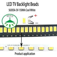 100pcs/lot new led 5630sa 3v 150ma lamp beads cool white for repair led lcd tv backlight light bar chip hot