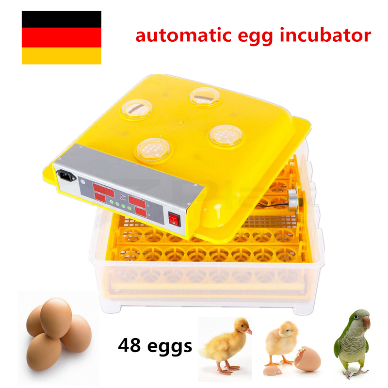 Mini home use Capacity 48pcs Automatic Turner Egg Incubator for Chicken with Digital Commercial Thermostat Control taie thermostat fy800 temperature control table fy800 201000