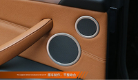 6pcs Speaker Audio Ring Decoration Trim For BMW 5GT F07 2010 2015