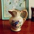 2015 Chegam Novas Europeu Pintura de Proteção Ambiental Decoração Floral Vaso de Cerâmica Vaso de Decoração Para Casa Frete grátis
