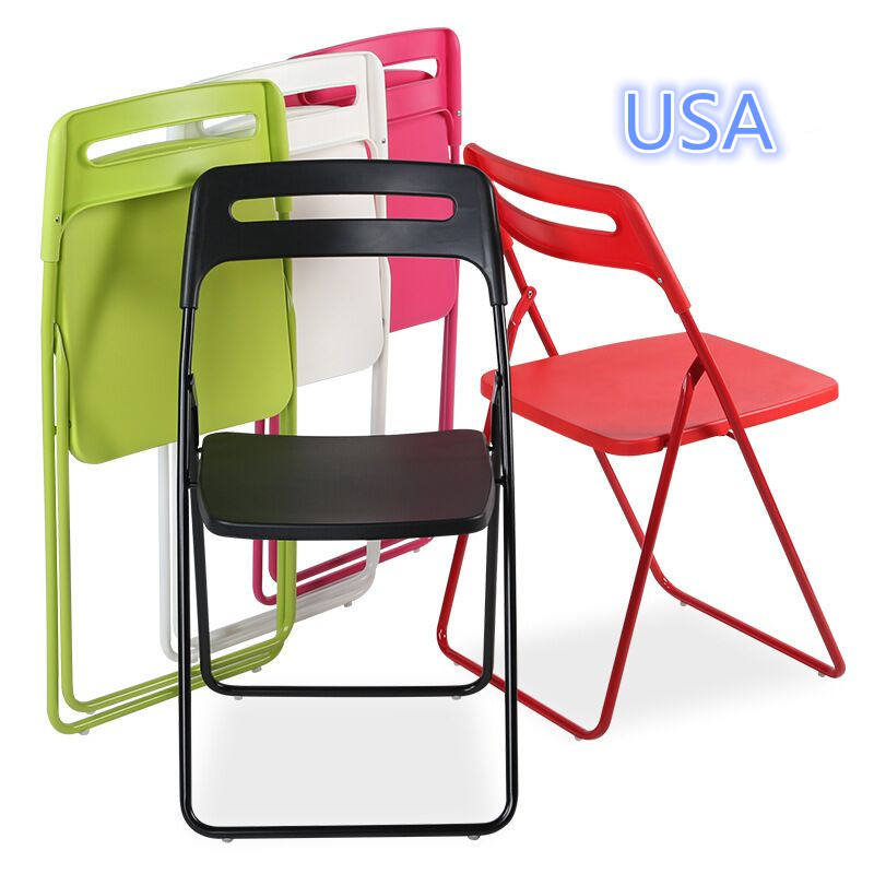 wholesale folding chairs chair swing gatlinburg 30pcs simple plastic steel pipe in
