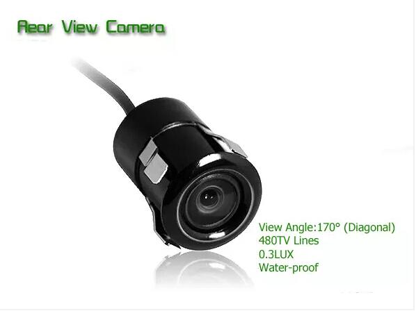 De! Pregado 480 TVLs 18.5 mm buraco veículo Auto frente reversa câmera de visão traseira